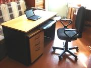 Компьютерный стол + стул+ тумба