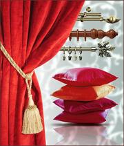Пошив штор;  выезд с образцами тканей на дом;  монтаж карнизов