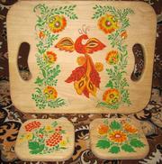 Деревянный поднос – досточка ,  поднос,  досточка для нарезки,  подарок для дорогого человека