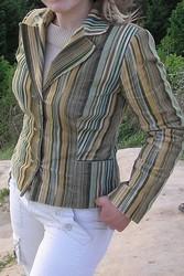 Стильный вельветовый костюм в зеленоватых тонах,  46-48 размер