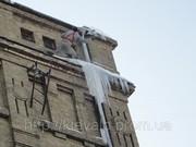 Уборка снега с крыш Киев,  очистка кровли от снега в Киеве,  удаление со