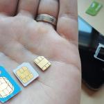 Обрезка SIM-карт под слот Nano-SIM для iphone 5 и Micro sim. Киев.