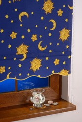Рулонная штора с узором Звездное небо