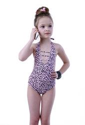 Слитный детский купальник для девочек