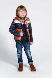 Куртка демисезонная для мальчика с жилеткой Модный карапуз