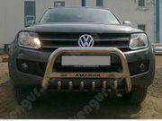 Защита передняя на Volkswagen Amarok с грилем и с надписью