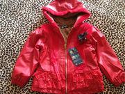 Куртка красная теплая на осень/весну в наличии