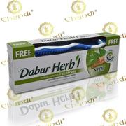 Зубная паста с нимом,  Dabur + зубная щетка в подарок!