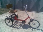 Велосипед трёхколёсный взрослый с корзиной для грузов