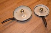 продам 2 сковородки с керамическим покрытием