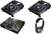 NEW PIONEER CDJ-2000 Nexus PAIR CD PLAYER AND DJM-2000 Nexus MIXER.