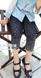 Бриджи джинсовые в стразах для девочки в наличии