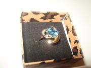 Колечко з бриллиантами  и топазом