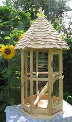 Клетка для птиц. Клетка для попугаев. Деревянная,  эксклюзивная. Клетка