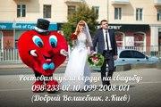 Свадебное Сердце,  ростовая кукла Сердце-курьер на свадьбу,  праздники
