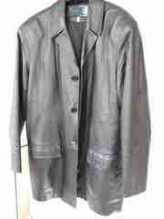 Кожаный пиджак мужской  р.52-54