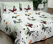 Купить постельное белье Украина,  Комплект Евро «Бабочки»