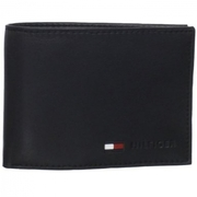 Кожаный кошелек с отделением для мелочи