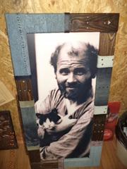 Картина Мужчина с котом