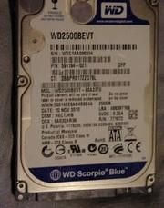 Продаётся винчестер HDD SATA 250GB от  ноутбука  HP Pavilion dv6742er