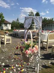 Выездная церемония,  ресторан отель Бабушкин сад