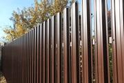 Купить штакетный забор металлический,  штакетник ограждения из профиля