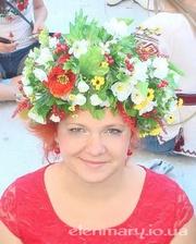 Венок,  обруч с цветами