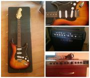 Набор гитариста Fender Squier Vintage Modified Strat RW 3SB+комб+проц