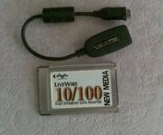 Продам сетевую карту к ноутбуку LAN 10/100 3Com  3CCFE574BT