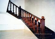 Лестницы из массива дерева. Гнутые поручни. Изготовление. Продажа. Киев.
