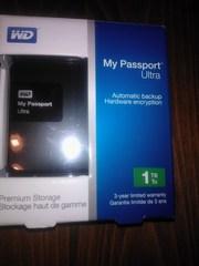 жесткий диск внешний 1000Гбайт Western Digital My Passport Ultra, новый