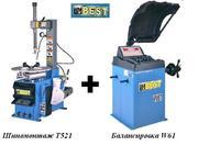 Шиномонтажный станок Т521 + балансировочный станок W61 BEST за 1300$.