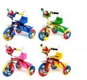 Детский трехколесный велосипед музыкальный без родительской ручки