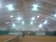 Крытые теннисные корты - каркасно-тентовая конструкция на 3 корта