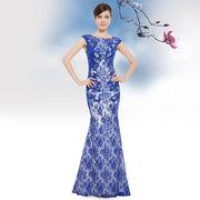 Стильное синее платье купить Украина.