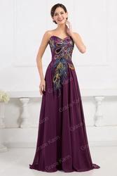 Фиолетовое платье в пол купить в интернет-магазине.