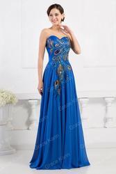 Синее вечернее платье в пол купить Украина.