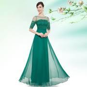 Зелёное вечернее платье большого размера