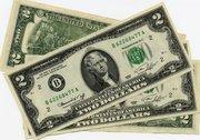 Банкнота номиналом 2 доллара Отличный подарок,  как в преддверии праздника,  так и в знак уважения,  в