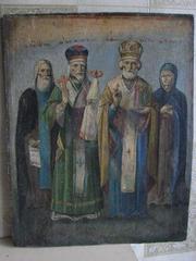 Предлагаю иконы старинные 18-19 века написанные темперными красками.  Господь Вседержитель19 .века.Торг.