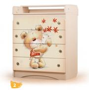 Пеленальный детский стол-комод