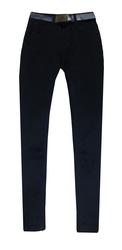 Женские джинсы черные  с высокой посадкой
