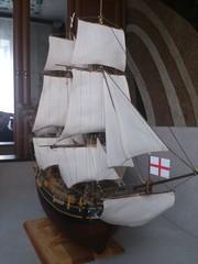 Парусник корабль модель ручной работы BOUNTY, масштаб 1:45