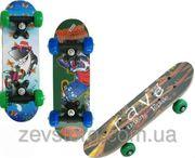 Скейтбордскейт Rave детский мини 3 вида размер 40х15 см