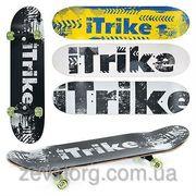 Скейт Itrike спортивный полупрофессиональный (скейтборд)