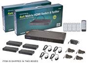 Матричный коммутатор HDMI 4×4 сат5/6 на 40метров с пультом ДУ