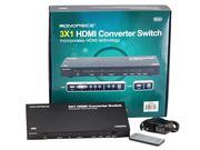 Коммутатор конвертер 3x1 цифрового и аналогового аудио/видео в HDMI