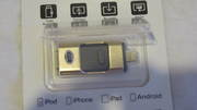 флешка универсальная на 16 и 32 гб  к аподу планшету айфону и ко.