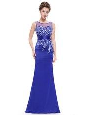 Великолепное синее вечернее платье