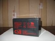 Аккумулятор CSB 12В(V) 7.2Ач(Ah) до ИБП,  эхолота,  металлоискателя,  дет